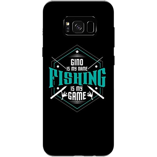 GINO My Name Fishing My Game Love Fish First Name - Phone Case Fits Samsung S8 Black