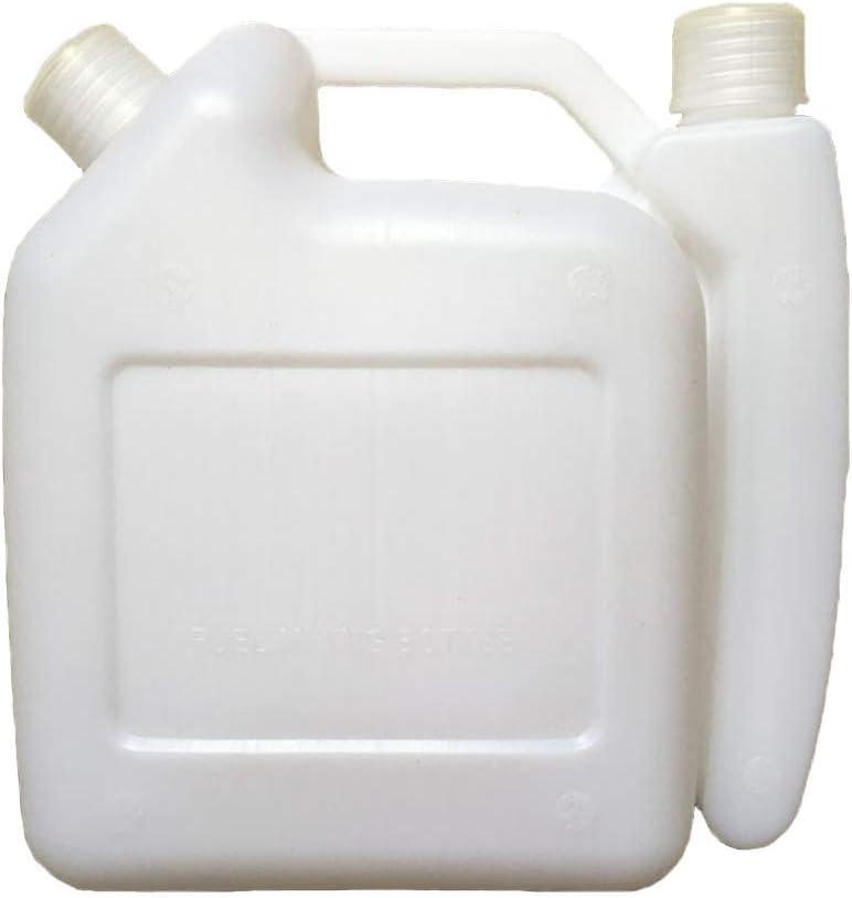 Botella para Mezclar 1.5L Sprout Duradero 2-Stroke Combustible Vajilla Aceite Tanque de Gasolina Blanco Contenedor Almacenaje 1:25 para Desbrozadora Motosierra: Amazon.es: Bricolaje y herramientas
