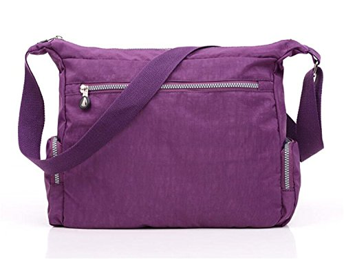 Casual Messenger Bag Shoulder body Bag TianHengYi Women's Lightweight Nylon Cross Pockets with Zipper Khaki 1 ZAnx8Z0Bq1