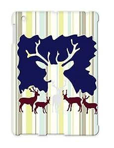 Reindeer Christmas Black Season Greetings Snow Xmas Holidays Occasions Christmas Winter Deer Reindeer Ski Moose Cold Case Cover For Ipad 4