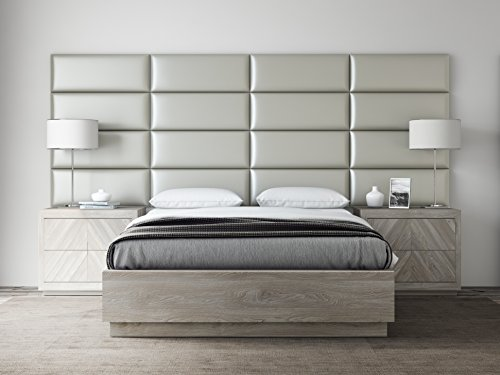 VANT Upholstered Headboards - Accent Wall Panels - Packs Of 4 - Metallic Neutral - 30