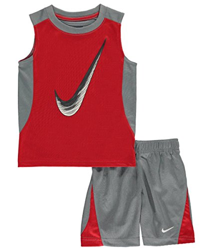 Nike Little Boys' Toddler 2-Piece Outfit (Sizes 2T - 4T) - cool gray, 3t