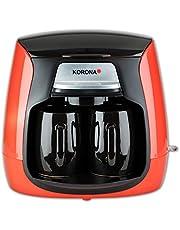 Korona 12208 Compact koffiezetapparaat 2 keramische permanente filter 2 kopjes koffiezetapparaat