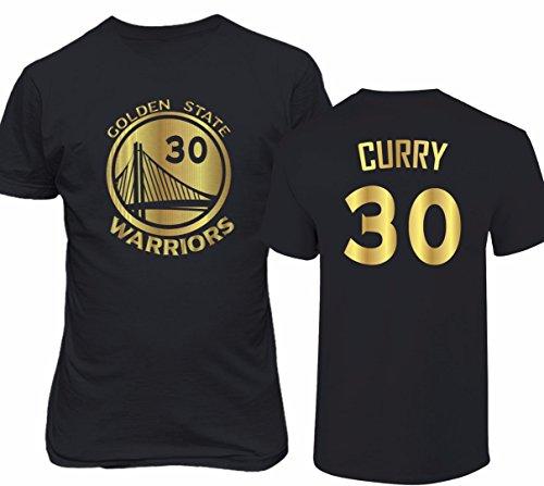 Golden State Curry 30 Gold Print Men's T-Shirt