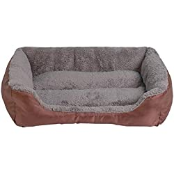 S-3Xl 9 Colors Paw Pet Sofa Dog Beds Waterproof Bottom Soft Warm Cat Bed House Petshop,Coffee,XL