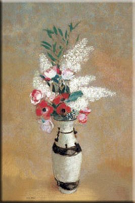 """Odion Redon Stretched Canvas Art 20x26 """"vase Of Flowers, Ca. 1912-14"""""""