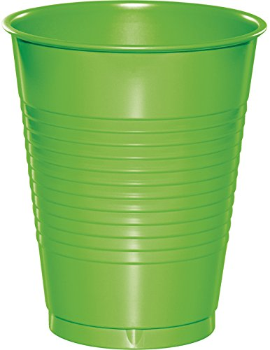 (Creative Converting 28312381 Touch of Color Premium Plastic Cups Party Supplies, 16oz, Fresh Lime)