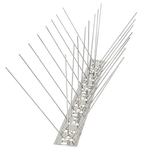 Pigeon Spikes - Bird Blinder Stainless Steel Bird Spikes for Pigeons and other Small Birds – Industrial design contains no plastic - (11 foot coverage)