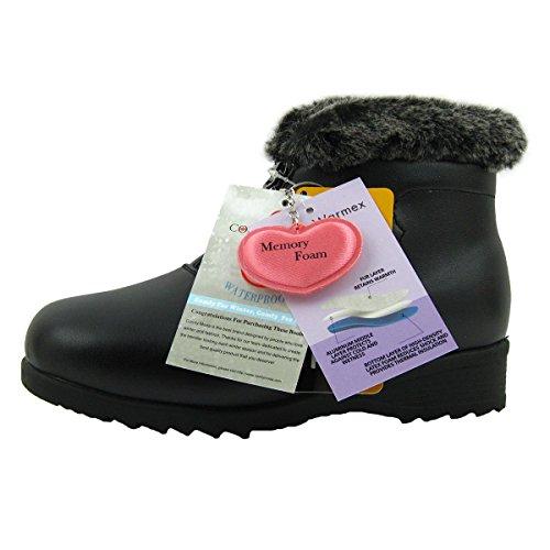 Comfy Moda Women's Winter Snow Boots London (10, Black) by Comfy Moda (Image #7)