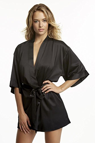 Jezebel Women's Kimono Robe, Black, Large/X-Large