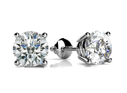100-ct-Size-Round-Cut-Cubic-Zirconia-Stud-Earrings-in-Sterling-Silver-in-Silver-Plated-With-Screw-Back