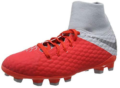 Nike JR Hypervenom Phantom 3 Academy DF FG Soccer Cleat (Light Crimson) (4Y) (Kids Soccer Shoes Nike Hypervenom)
