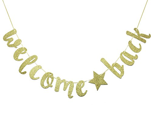 FOZEE Welcome Back Banner Sign,Home, Schoolyard, Classroom