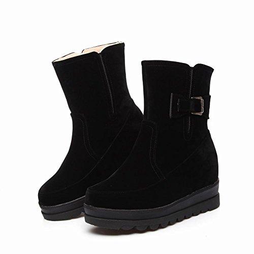 Charm Foot Mujeres Outdoor Winter Platform Botas Altas De Nieve Negro