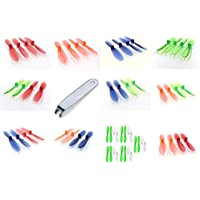 Hubsan X4 H107D+ Plus [QTY: 1] Green White 55mm Propellers Blades Props 5x Propeller Blade Prop Set 20pcs Drone Parts Drones [QTY: 1] Transparent Clear Blue Rotor Factory Units [QTY: 1] [QTY: 1] Red [