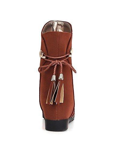 A Vellón Zapatos Cuña Vestido Moda Casual Tacón 5 Punta De Xzz Botas Redonda Eu39 La Cuñas us5 Cn39 Cn3 Brown Brown Uk3 Marrón us8 5 Negro Uk6 Mujer Eu36 Cn35 Beige qz7wI6Ix