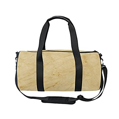 a53b24bf80 ALAZA Yellow Marble Texture Sports Gym Duffel Bag Travel Luggage Handbag  for Men Women free shipping