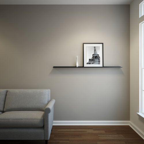 Floating Ledge Black Powder Coated Carbon Steel for Frames, Photos and Pictures, Extra Deep 3.5