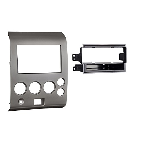 Metra 99-7406 Single DIN/Double DIN Installation Kit for 2004-2006 Nissan Titan and Armada Vehicles without Climate Controls (Gray) (Titan Single)