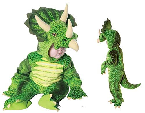 Underwraps Costumes Baby's Triceratops Costume Jumpsuit, Green, X-Large (4-6 Yrs)