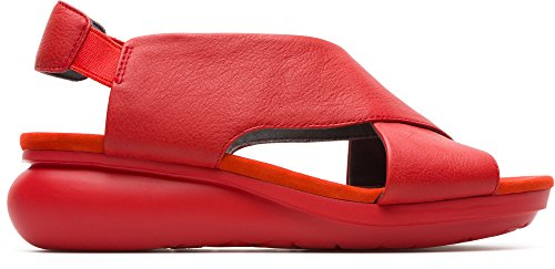 Camper Womens Balloon Cross Sandal Platform Sandal Medium Red Gl7HURY