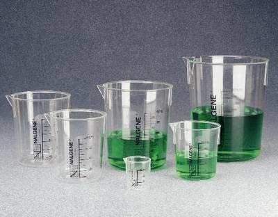 1203-1000 - Nalgene Graduated Griffin Beakers, PMP, Thermo Scientific - Capacity : 1 L (34 oz.) - Case of 12