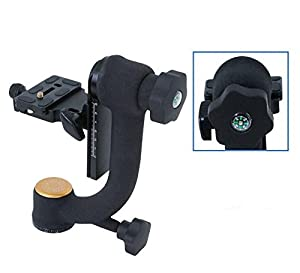 Koolehaoda Q45 Professional Gimbal Tripod Head with PU-70 QR Plate For Camera Telephoto Lens. (Color: Q45)