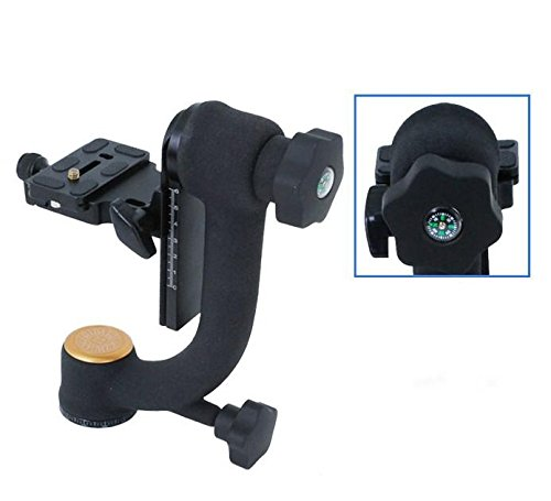 Koolehaoda Q45 Professional Gimbal Tripod Head with PU-70 QR Plate For Camera Telephoto Lens. by koolehaoda