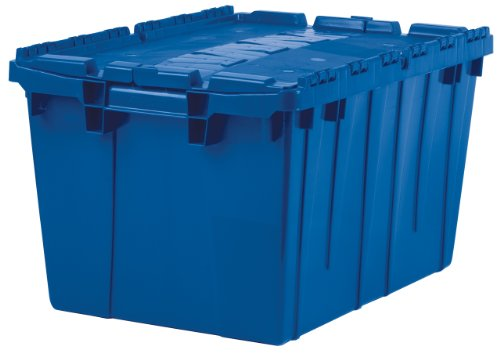 Akro-Mils 39120 Plastic Storage and Distribution Container Tote with Hinged Lid, 21.5-Inch L by 15-Inch W by...
