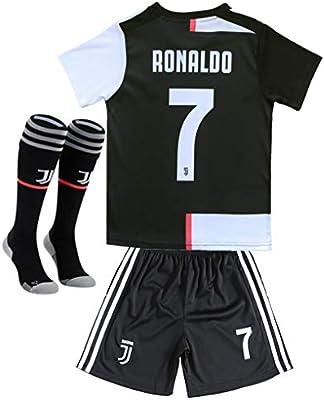 Juve Js 3pcs Juventus 7 Cristiano Ronaldo Home Soccer Shirt