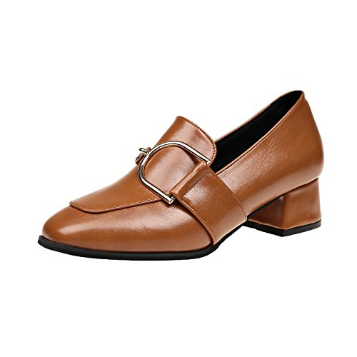 Donyyyy Primavera solo zapatos con tacón medio y dos osos perezosos zapatos de mujer Thirty-seven