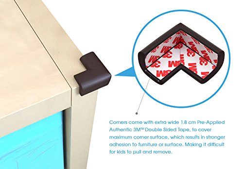 Soft Baby Proofing Corner Guards & Edge Protectors - Pre-Applied 3M tape, 8 PACK by Sure Basics (Image #2)