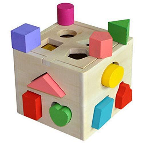 Queta 13 Lö cher Intelligenz Box Stä nder Volumen Holz Geometrie Kinder 13 Loch Form Paarungsblö cke