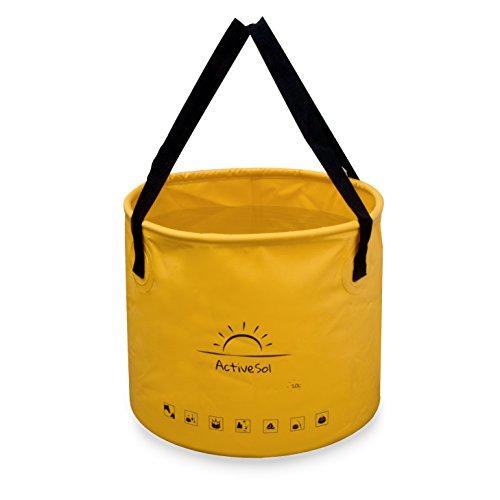 Active Sol Falteimer   Robust, faltbar, leicht, platzsparend für Urlaub, Garten, Outdoor, Angeln & Camping   Vielseitig