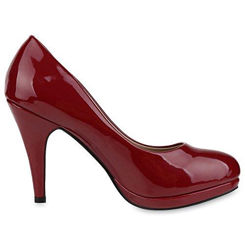 napoli fashion Rosso Donna chiuse Scarpe scuro nUwBq6Rgz