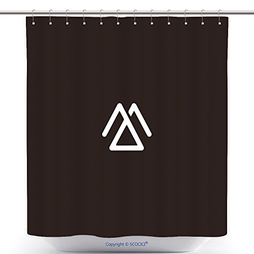 Stylish Shower Curtains Unique Connected Geometric Shape Symbolic Black And White Color Mj Jm M Initial Based Letter Icon 605164604 Polyester Bathroom Shower Curtain Set With (Halloween Costumes Based On Words)