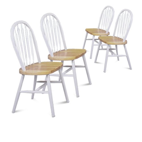 Chair Arrow Natural Wood (The Furniture Cove 4 Natural and White Finish Arrow Back Dining Chairs)