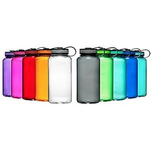Maars Tritan Wide Mouth 34 oz. BPA-Free Sports Water Bottle | Multicolor | 12 Pack