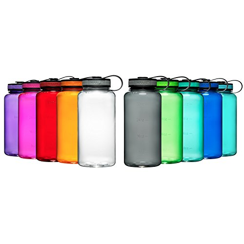 Maars Tritan Wide Mouth 34 oz. BPA-Free Sports Water Bottle | 4 Pack