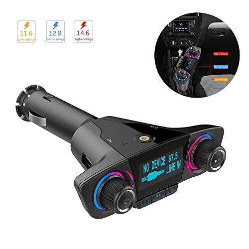 NEWSEELY Car MP3 Player Double-head Hands-free Bluetooth FM Transmitter MP3 Player Dual USB Port Music Playing Device Via Bluetooth U Disk And TF Card