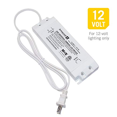 Armacost Lighting 840240 24-Watt LED Power Supply Dimmable Driver with Cord
