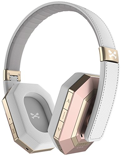 Ghostek soDrop Pro Wireless Bluetooth Headphones with Built-in Microphone - Pink/White (Pink Bluetooth Headphones Prime)