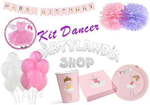 Partylandia Kit de Fiesta de cumpleaños Bailarina para 16 ...
