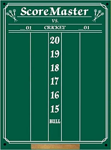 Amazon Com Scoremaster Chalk Dart Scoreboard Medium Size Cricket 01 Games Sports Outdoors