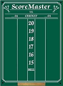 Scoremaster Chalk Dart Scoreboard (Medium Size) Cricket & 01 Games