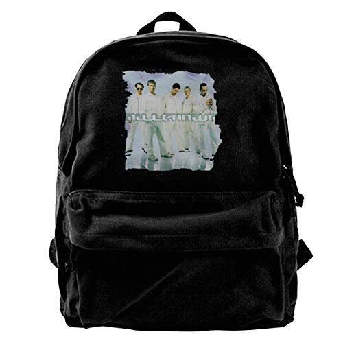 (Canvas Backpack Backstreet Boys Millennium Logo Rucksack Gym Hiking Laptop Shoulder Bag Daypack For Men Women)