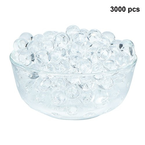 - LOVOUS 3000 Pcs Water Beads, Crystal Soil Water Bead Gel, Wedding Decoration Vase Filler - Furniture Decorative Vase Filler, All Occasion Table Centerpiece Decorations (Transparent)