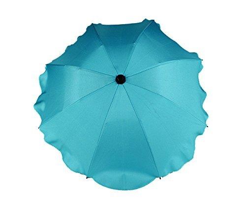 BABY SUN UMBRELLA PARASOL BABY PRAM PUSHCHAIR BUGGY CANOPY PROTECT FROM SUN/RAIN (Light Ocean Blue) Babymam