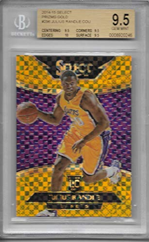 2014-15 Select Basketball Julius Randle Gold Prizm Rookie # 2/10 BGS 9.5 Lakers