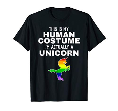 Halloween Gay Unicorn Halloween Costume T-shirt Pride -